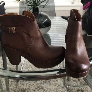 Kork-Ease Brown Booties